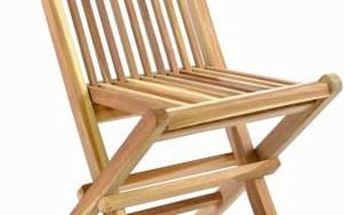 Skládací dětská židle z teakového dřeva DIVERO