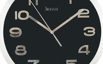 Nástěnné hodiny TITANIUM malé 20,3 cm - ČERNÁ