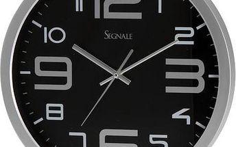 Nástěnné hodiny SEGNALE 35 cm - ČERNÁ