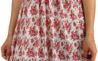 Letní květované šaty/sukně 2v1 růžová