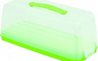 Dortový podnos s poklopem - zelený CURVER