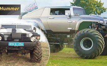 Hummer Monster Truck HX a GAZ Tigr na tankodromu Milovice: 30 min. adrenalinu na místě řidiče
