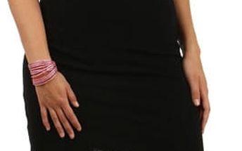 Pouzdrové šaty s průhlednými rameny černá
