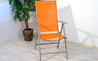 Hliníková skládací židle Garth - oranžová