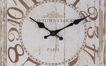 Nástěnné hodiny ANTIK 30 x 39 cm OLD TOWN