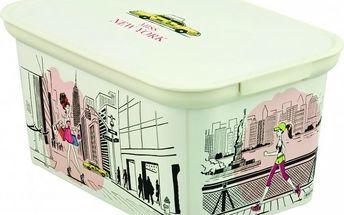 Úložný box DECO - S - Miss New York CURVER