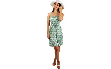Letní květované šaty/sukně 2v1 modrá