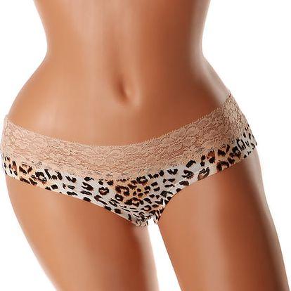 Barevné krajkové kalhotky béžová
