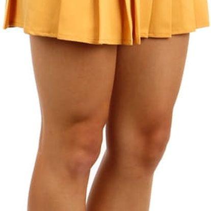 Dámská skládaná sukně žlutá