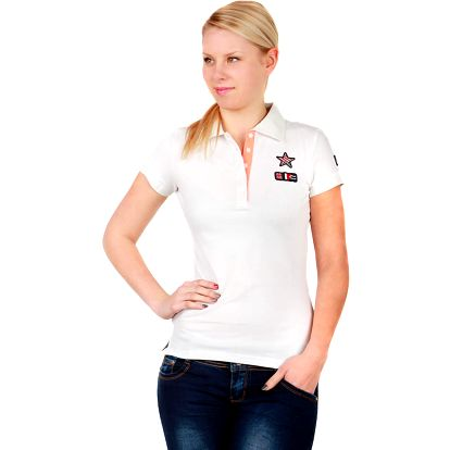 Krásné tričko s límečkem bílá