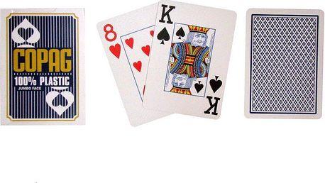 Poker karty Copag Jumbo 2 rohy Blue