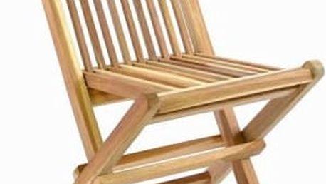 Divero 35877 Skládací dětská židle z teakového dřeva