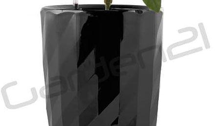 Samozavlažovací květináč G21 Diamant černý 33cm
