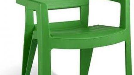 Zahradní plastové křeslo IBIZA zelená