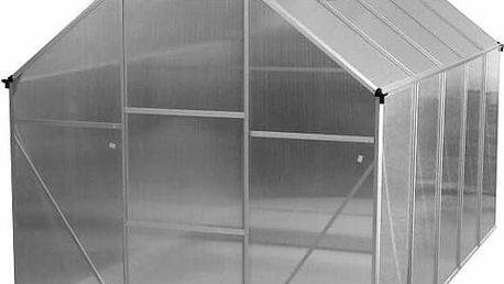 Skleník s dvěma střešními okny 311 x 190 x 195 (124) cm