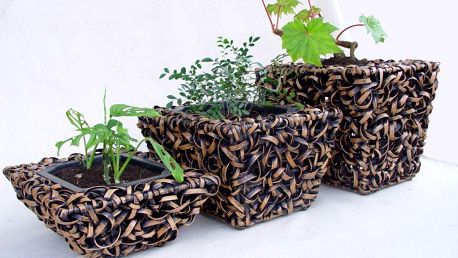Ratanový obal na květináč - velký