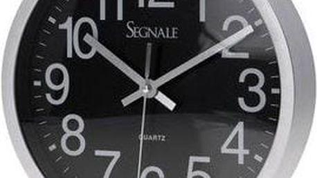 Nástěnné moderní hodiny 25 cm - ČERNÉ