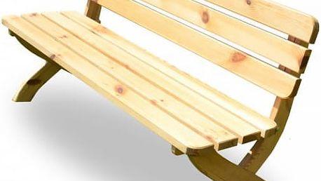 Zahradní dřevěná lavice STRONG přírodní FSC