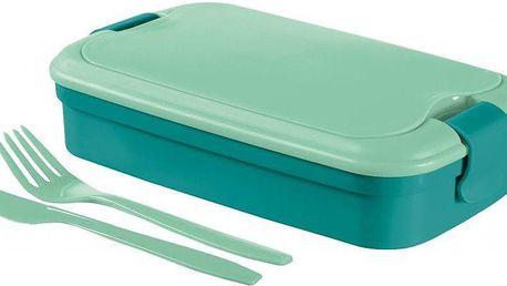 Svačinový box LUNCH & GO - modrý (00768-B36)