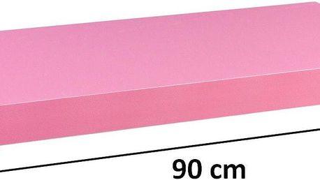 STILISTA 31065 Nástěnná police VOLATO - růžová 90 cm