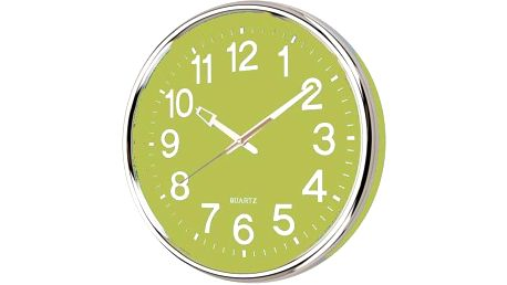 Nástěnné hodiny 37,5 x 5,3 cm - ZELENÁ