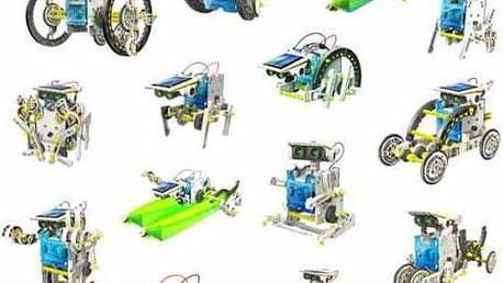 Solární stavebnice 14v1 pro stavbu robotů