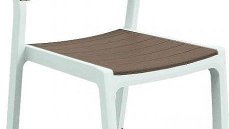 Designová zahradní židle HARMONY - bílé + cappuchino
