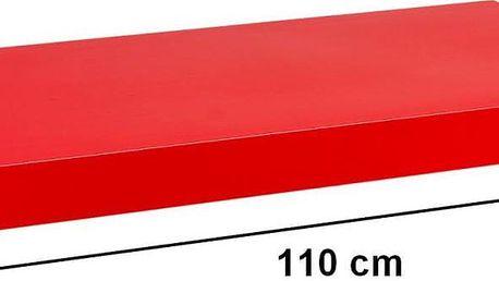 Nástěnná police STILISTA VOLATO - lesklá červená 110 cm