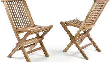 Zahradní sada 2 dětských dřevěných židlí DIVERO