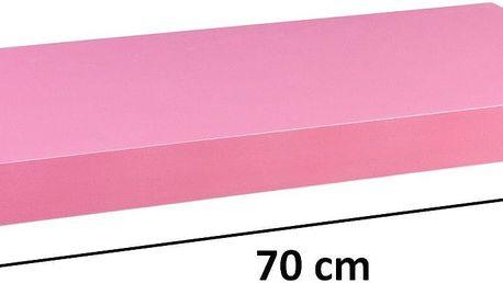 STILISTA 31054 Nástěnná police VOLATO - růžová 70 cm