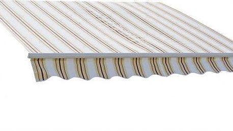 Markýza 3 x 2 m pruhy růžová terakota 318