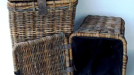 Ratanový koš na prádlo WASMAND - malý