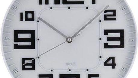 Nástěnné hodiny skleněné RELIÉF 30 cm - ČERNÁ
