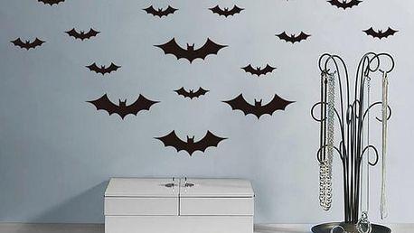 Samolepka na zeď - hejno netopýrů