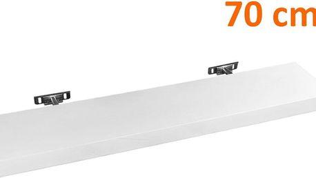 Nástěnná police STILISTA SALIENTO - 70 cm bílá