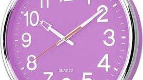 Nástěnné hodiny 37,5 x 5,3 cm - FIALOVÁ
