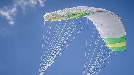 Garthen 27950 Létající kite 200 x 70 cm - zeleno bílý