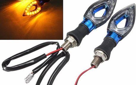 Motocyklové LED blinkry v modré barvě - 2 ks