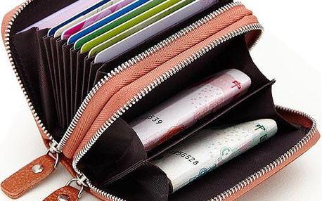 Unisex peněženka s dvěma zipy
