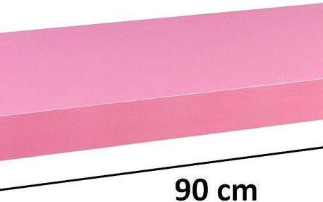 STILISTA VOLATO 31065 Nástěnná police - růžová 90 cm