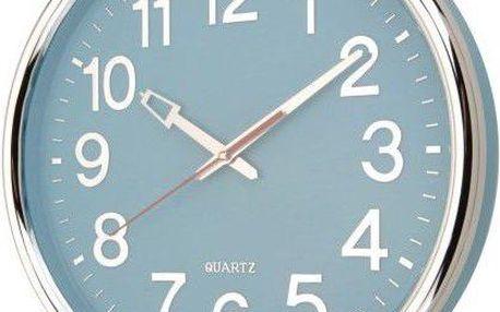 Koopman 35235 Nástěnné hodiny 37,5 x 5,3 cm - MODRÁ