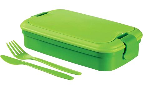 Svačinový box LUNCH & GO box - zelený CURVER