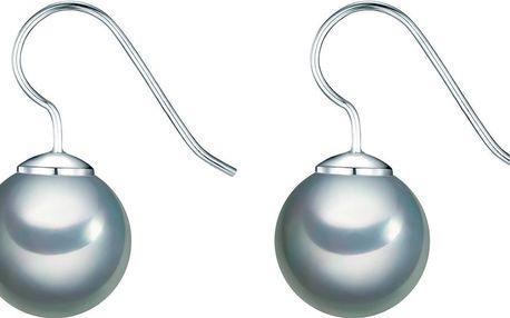Perlové náušnice Kerne, šedá perla 12 mm