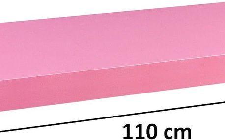 STILISTA 31076 Nástěnná police VOLATO - růžová 110 cm