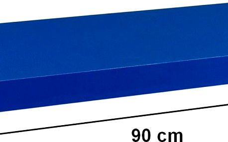 STILISTA 31066 Nástěnná police VOLATO - modrá 90 cm