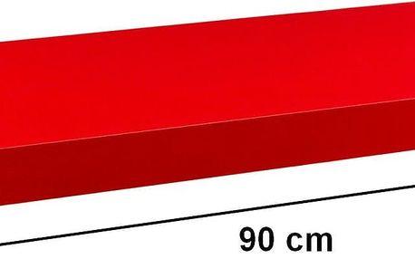 STILISTA 31064 Nástěnná police VOLATO - matná červená 90 cm