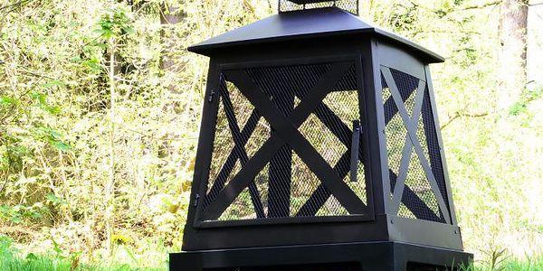 Garthen 37107 Terasový ocelový zahradní krb 82 x 54 x 54 cm5
