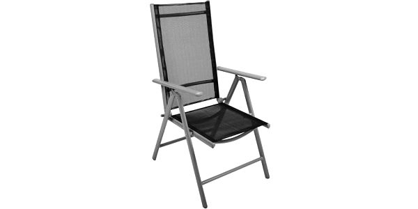 Skládací zahradní židle GARTHEN - černá