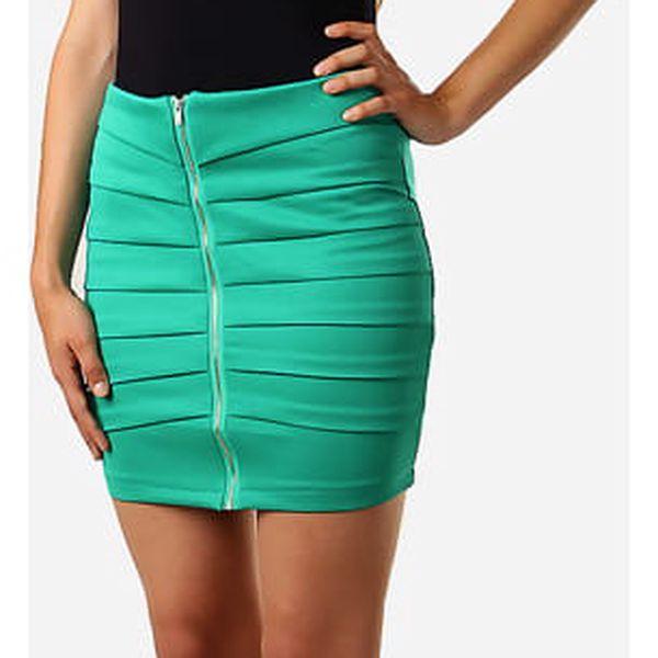 Dámská zeštíhlující sukně se zipem zelená3