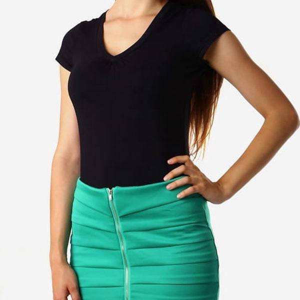 Dámská zeštíhlující sukně se zipem zelená